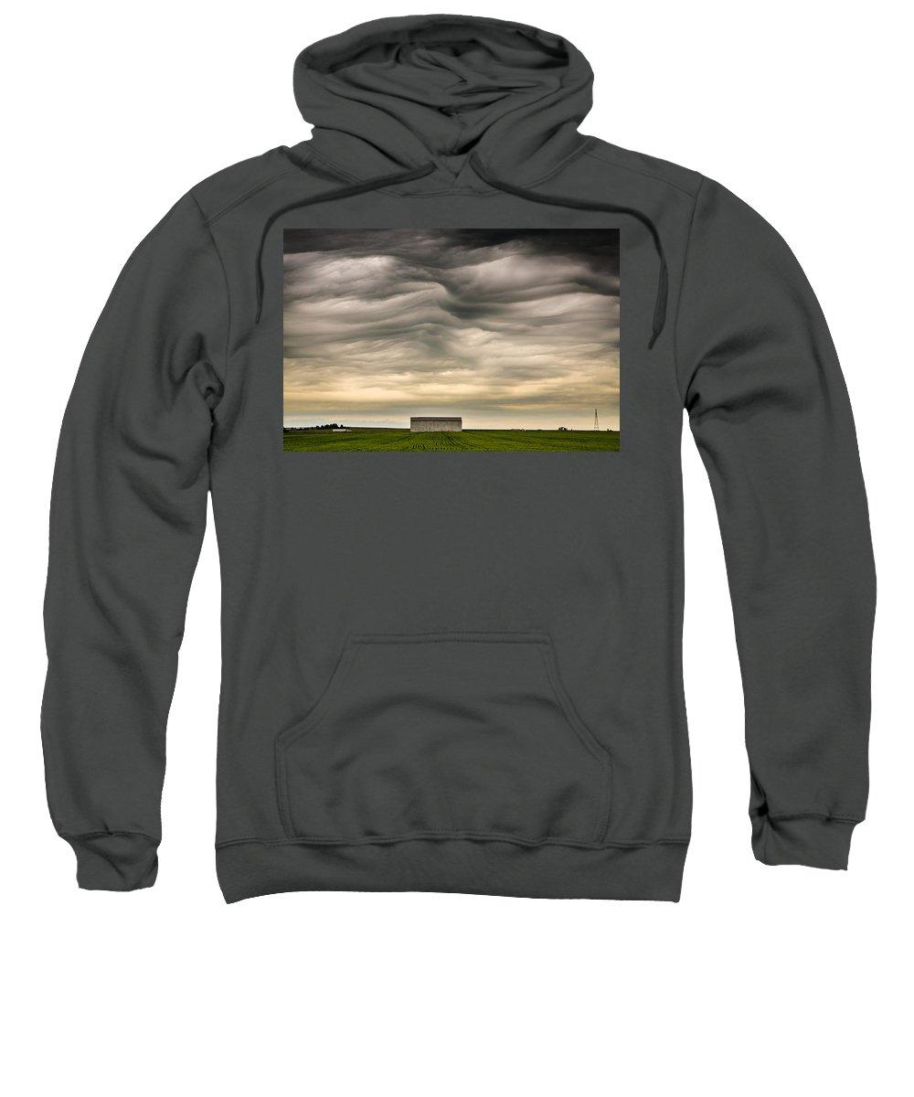 Mammatus Sweatshirt featuring the photograph Mammatus Clouds by Jeff Phillippi