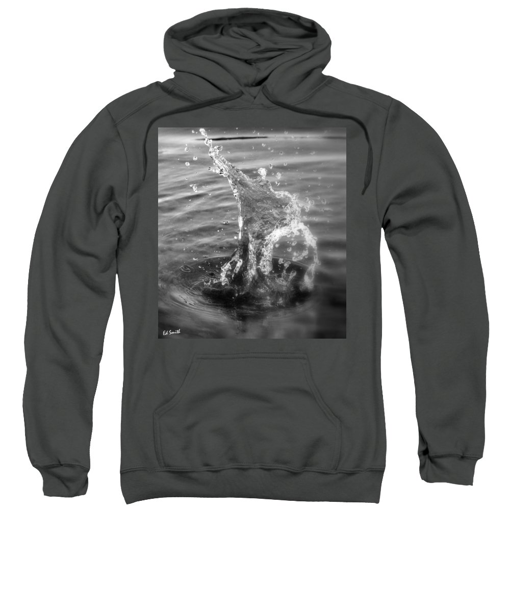Man Of Glass Sweatshirt featuring the photograph Man Of Glass by Ed Smith