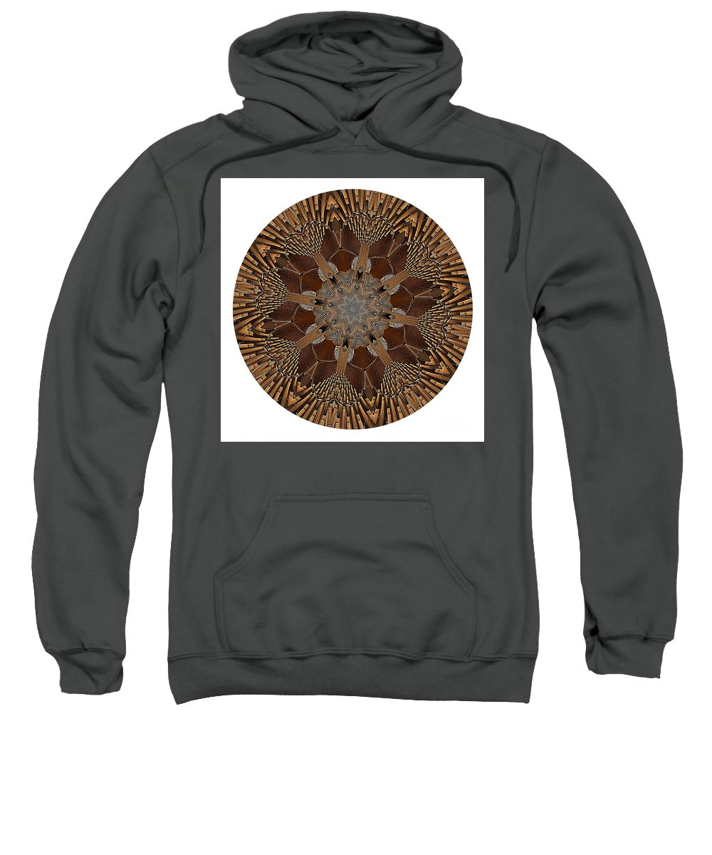 Talisman Sweatshirt featuring the digital art Mandala - Talisman 1384 by Marek Lutek