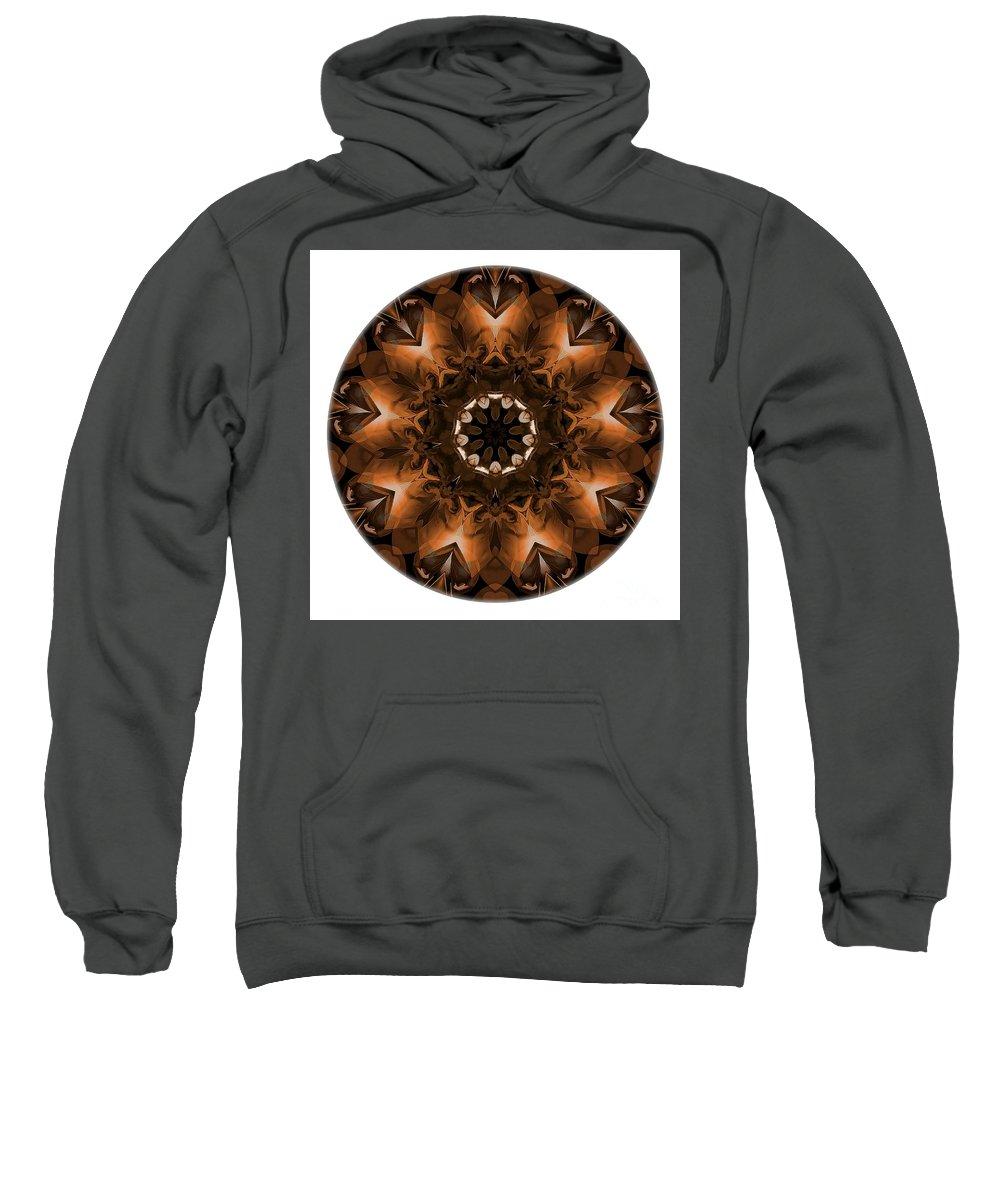 Talisman Sweatshirt featuring the digital art Mandala - Talisman 3703 by Marek Lutek