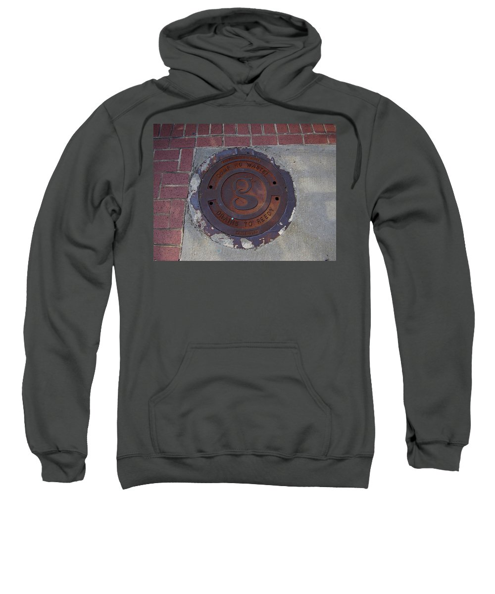 Manhole Sweatshirt featuring the photograph Manhole II by Flavia Westerwelle