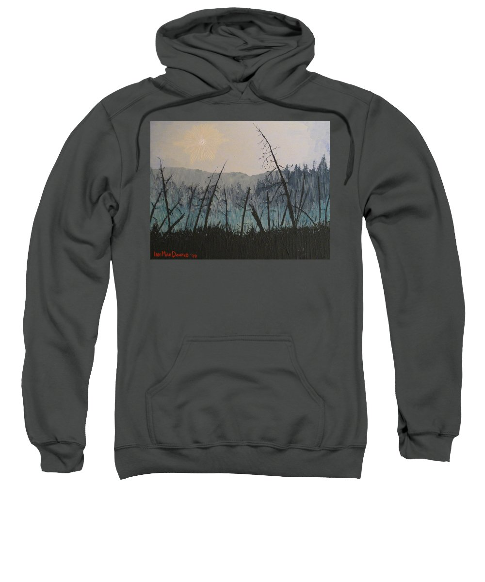 Northern Ontario Sweatshirt featuring the painting Manitoulin Beaver Meadow by Ian MacDonald
