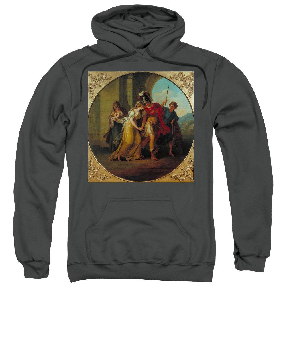Manner Of Angelica Kauffman Sweatshirt featuring the painting Manner Of Angelica Kauffman by MotionAge Designs