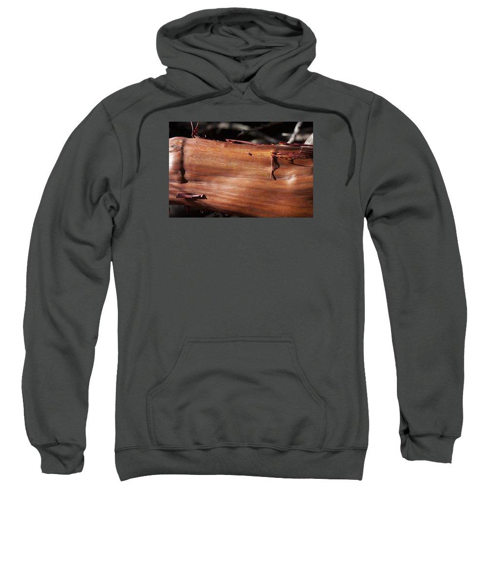 Manzanita Sweatshirt featuring the photograph Manzanita Trunk by Grant Groberg