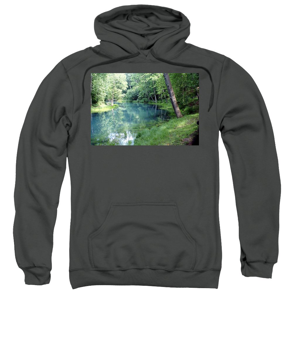 Maramec Springs Park Sweatshirt featuring the photograph Maramec Springs 1 by Marty Koch