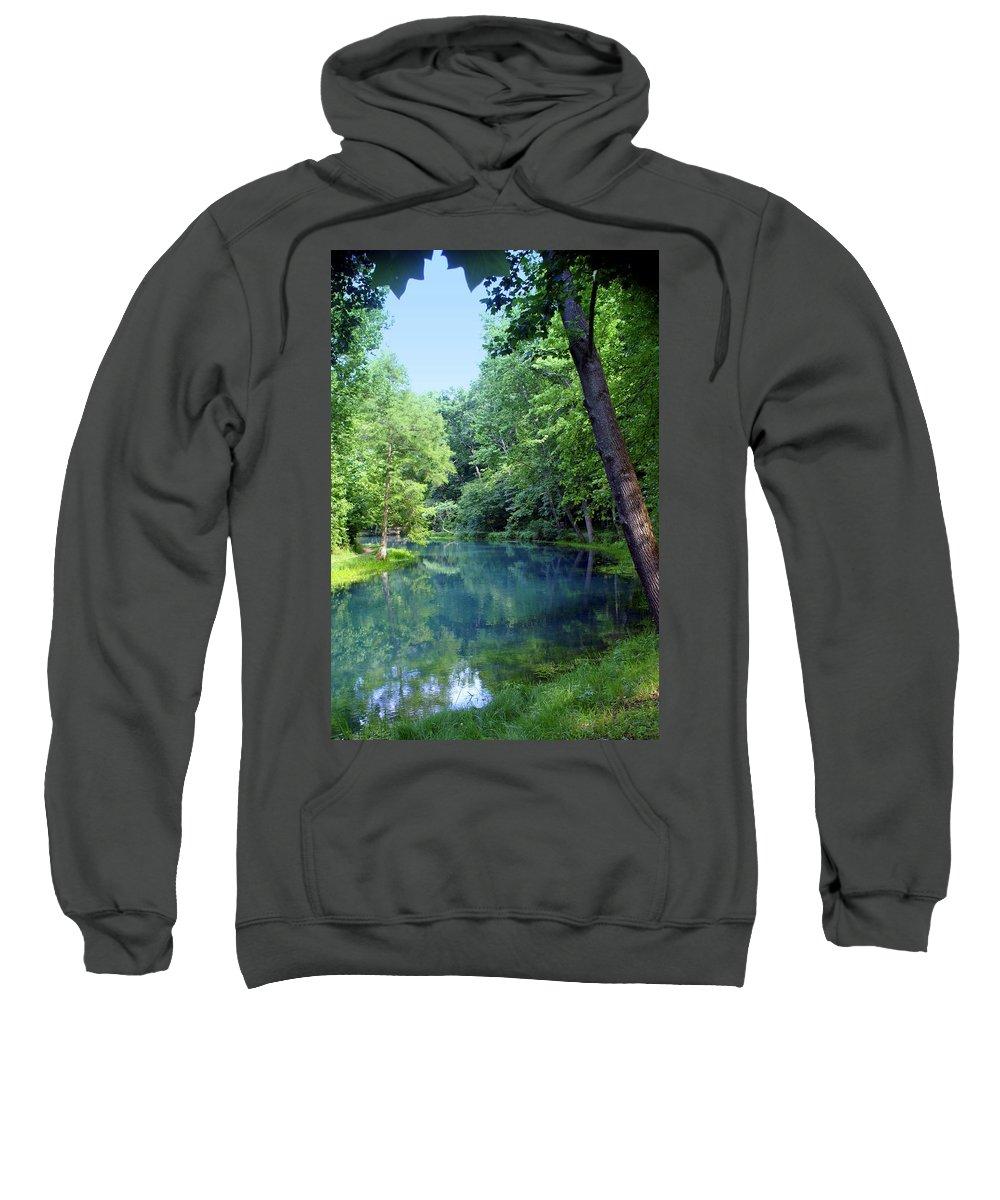Maramec Springs Park Sweatshirt featuring the photograph Maramec Springs 2 by Marty Koch