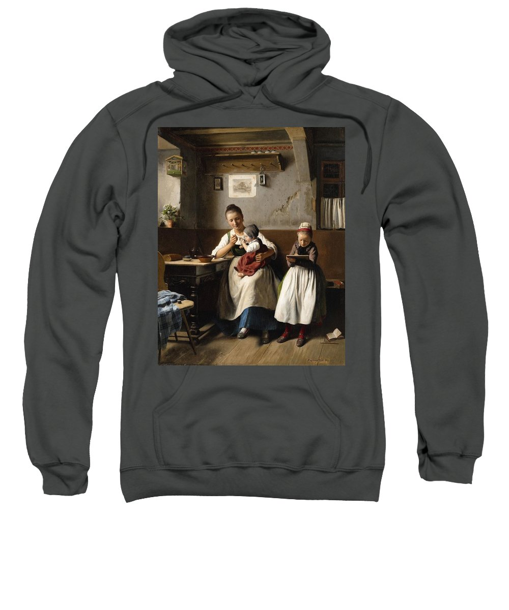 Meyerheim Sweatshirt featuring the painting Marburg by MotionAge Designs