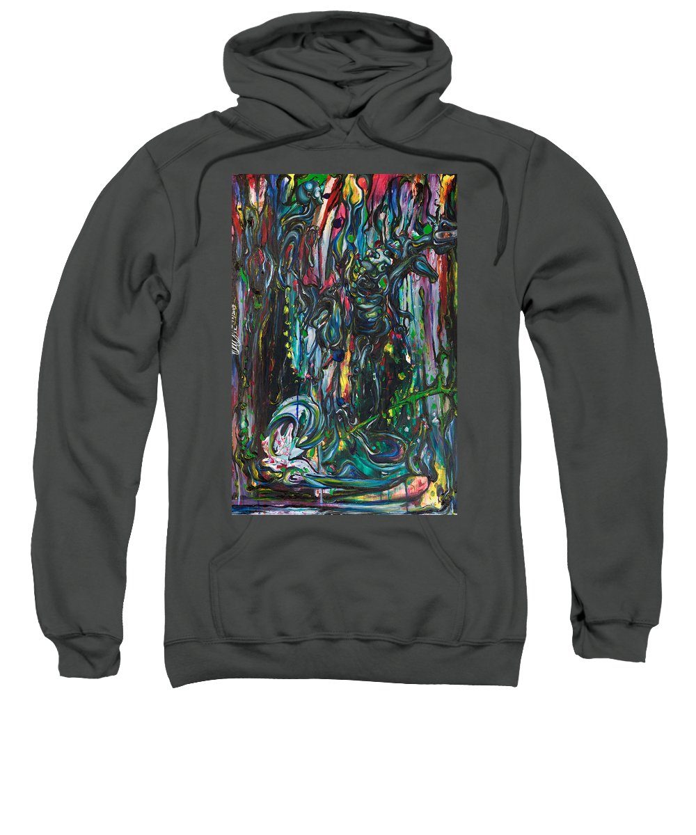 Surreal Sweatshirt featuring the painting March Into The Sea by Sheridan Furrer
