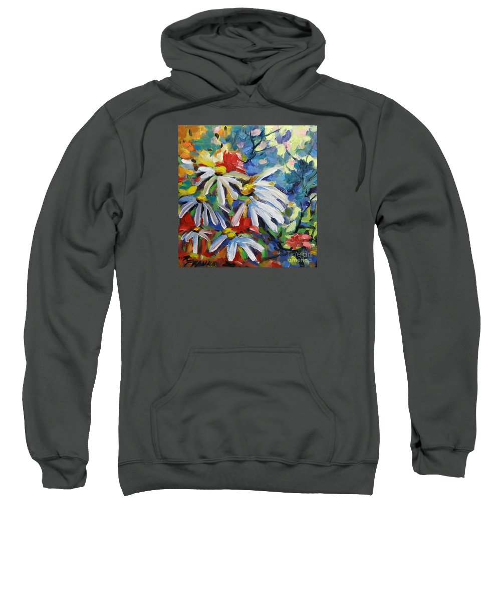 Art Sweatshirt featuring the painting Marguerites by Richard T Pranke