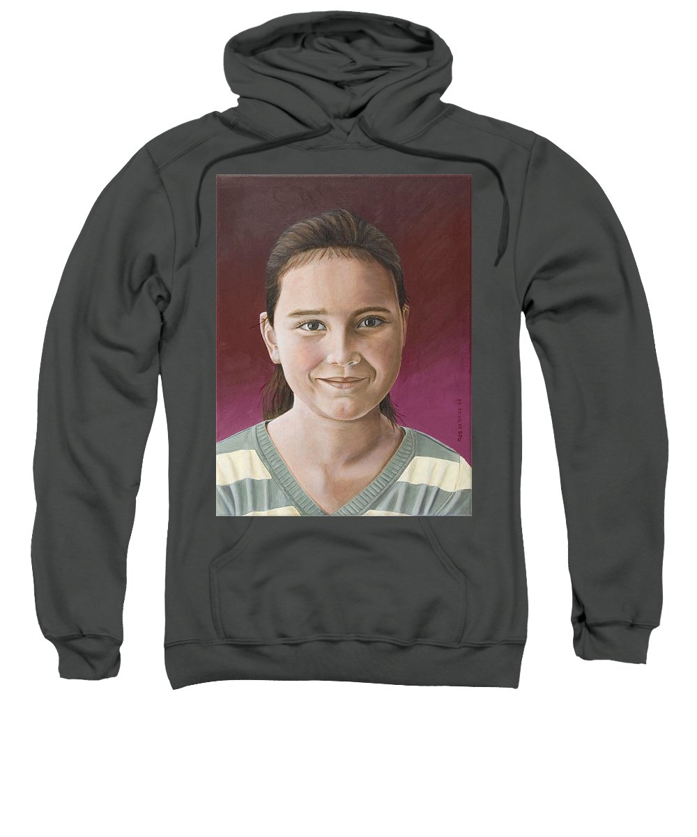 Portrait Sweatshirt featuring the painting Maria by Rob De Vries