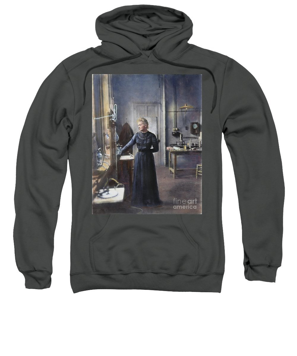 1908 Sweatshirt featuring the photograph Marie Curie (1867-1934) by Granger