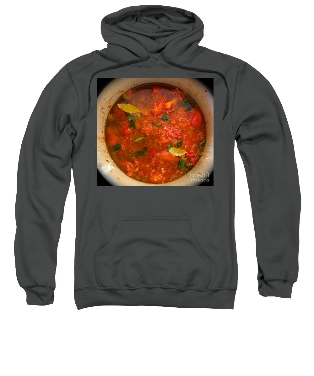 Tomatoes Sweatshirt featuring the photograph Marinara Magic by Suzanne Oesterling