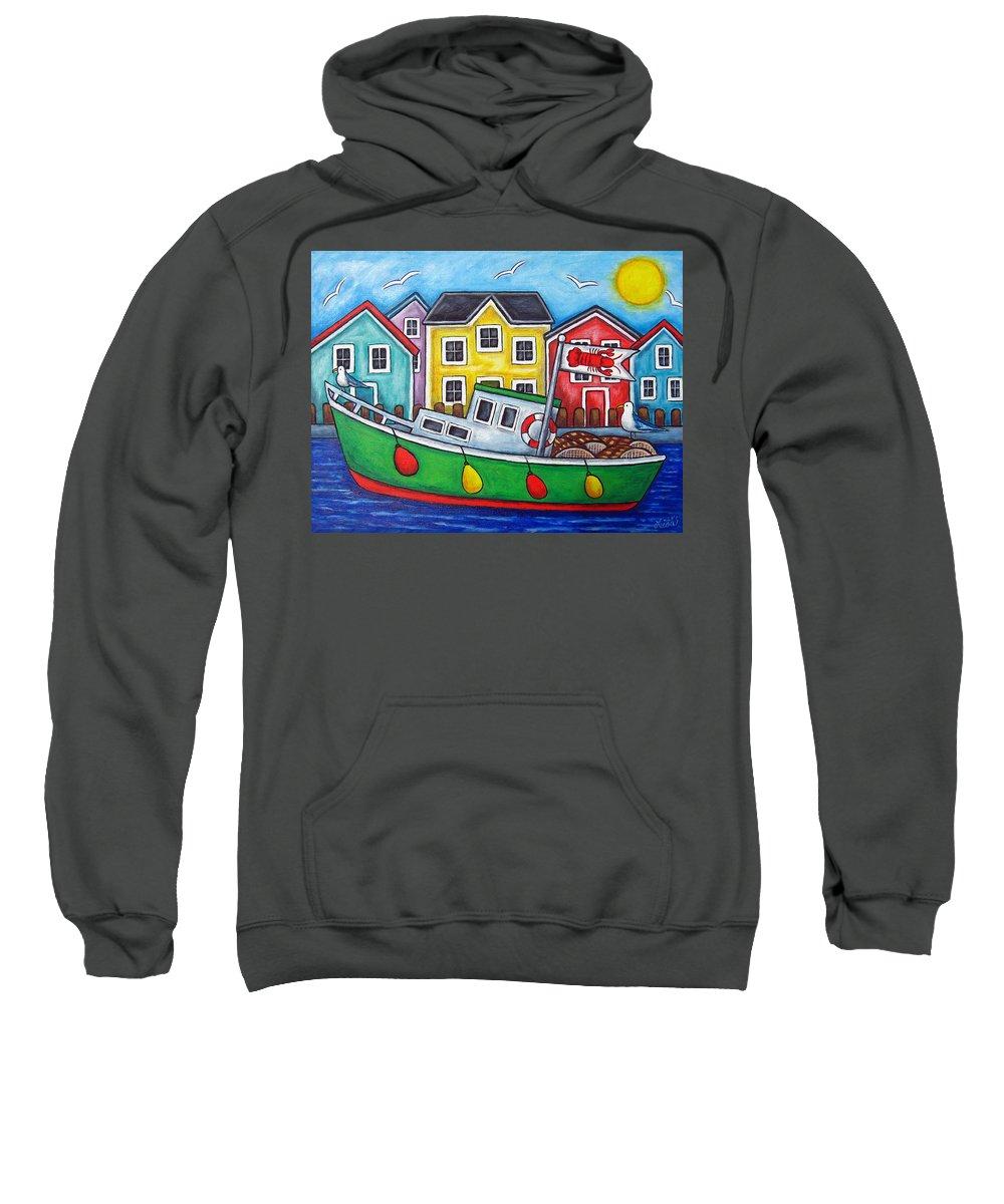 Lisa Lorenz Sweatshirt featuring the painting Maritime Special by Lisa Lorenz