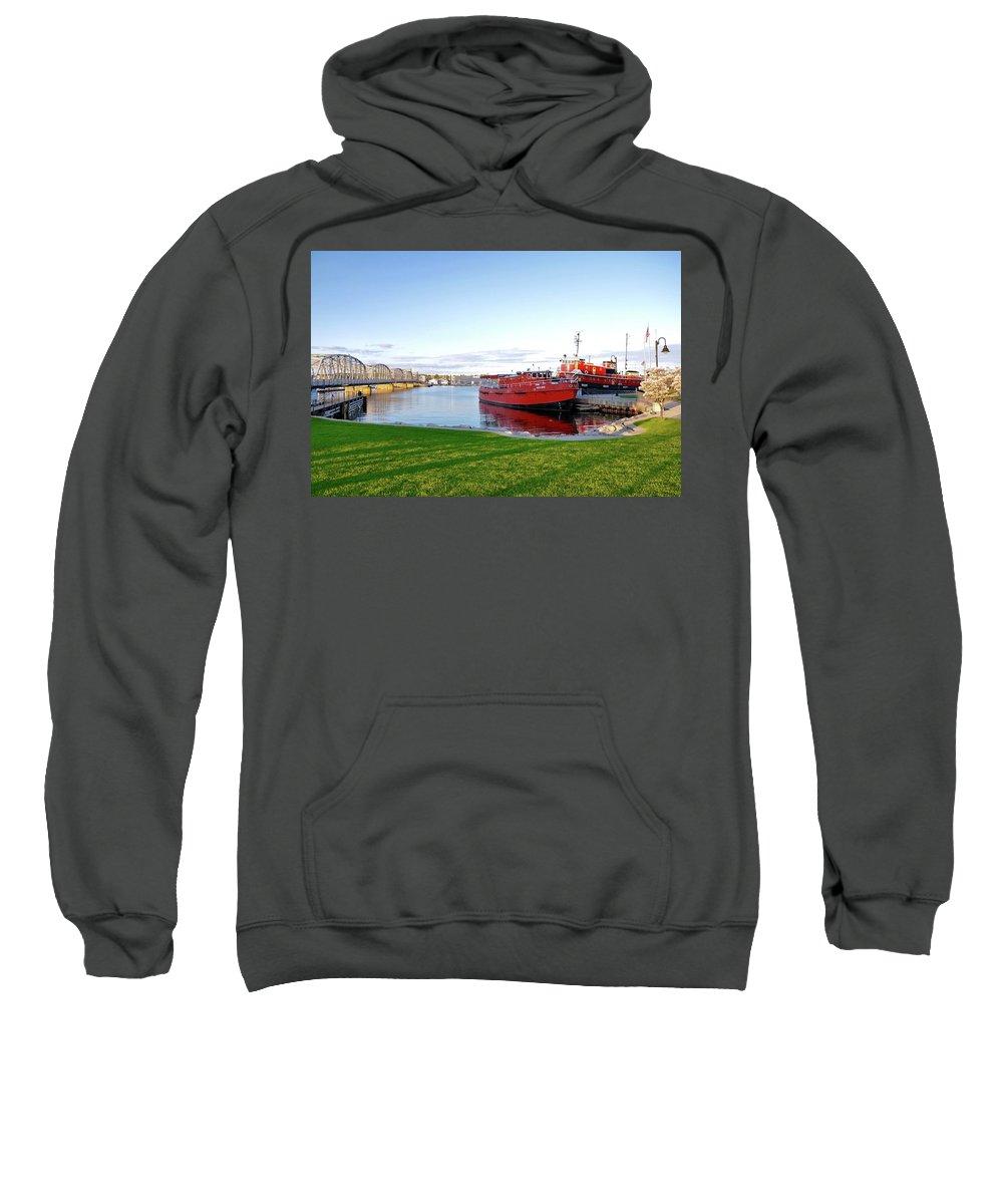 Landscape Sweatshirt featuring the photograph Maritime Springtime by Jeremy Evensen