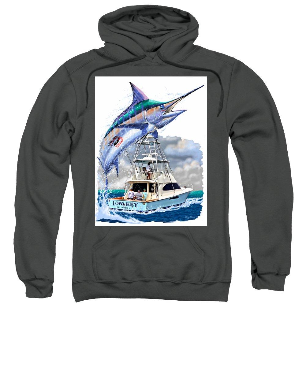 Marlin Sweatshirt featuring the digital art Marlin Commission by Carey Chen