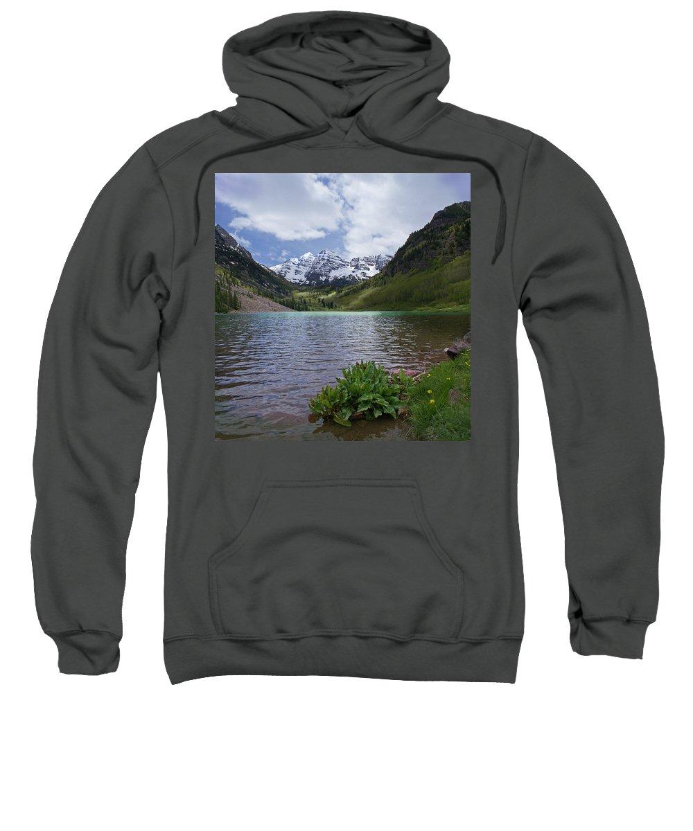 Aspen Sweatshirt featuring the photograph Maroon Bells Spring by Heather Coen