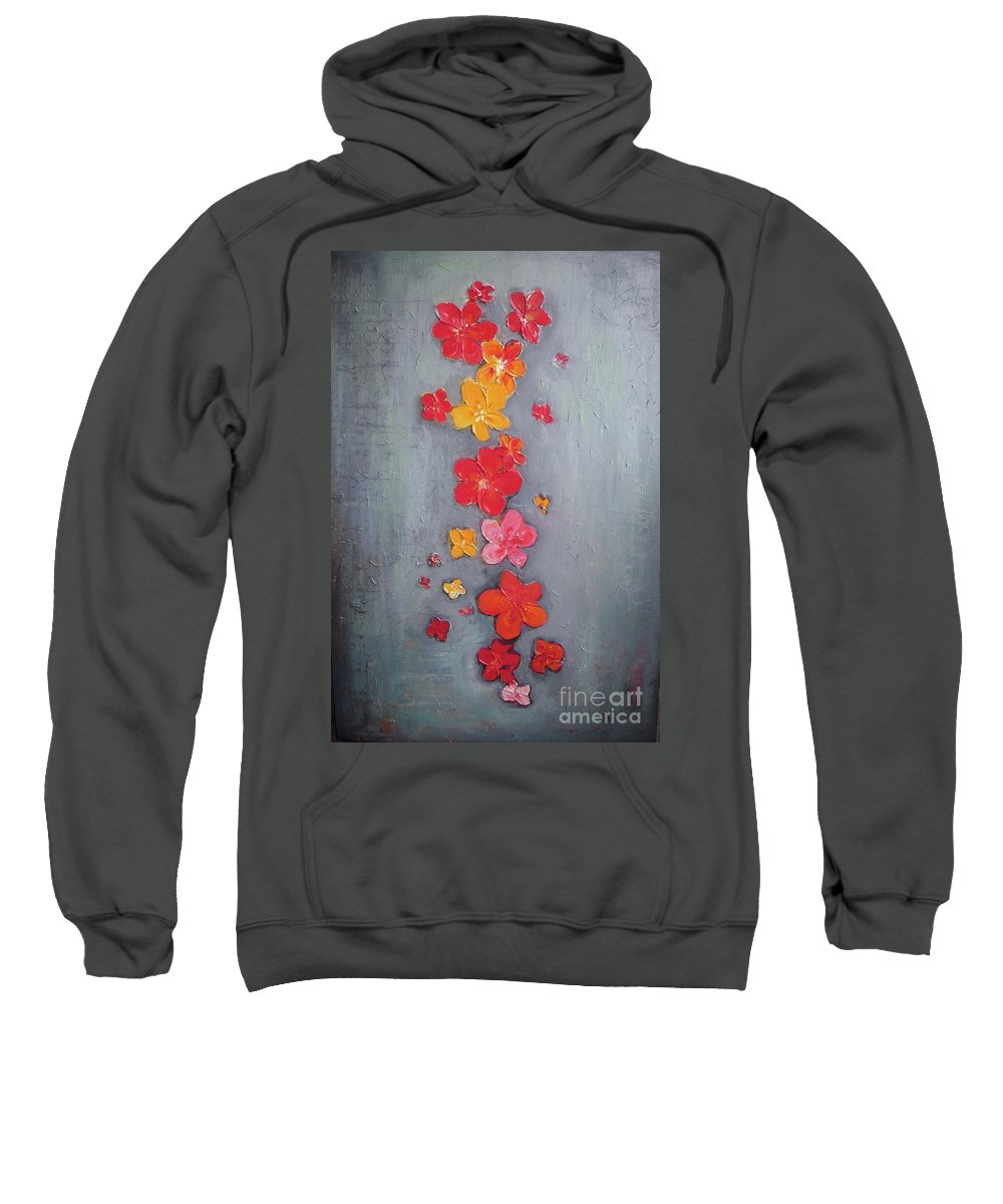 Abstract Sweatshirt featuring the painting Marry Me by Vesna Antic