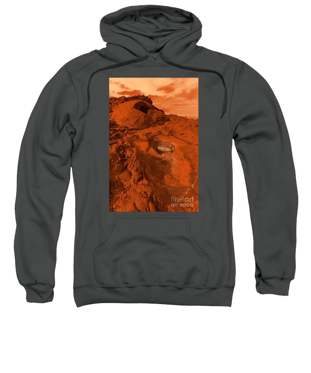 Alien Sweatshirt featuring the photograph Mars Landscape by Gaspar Avila