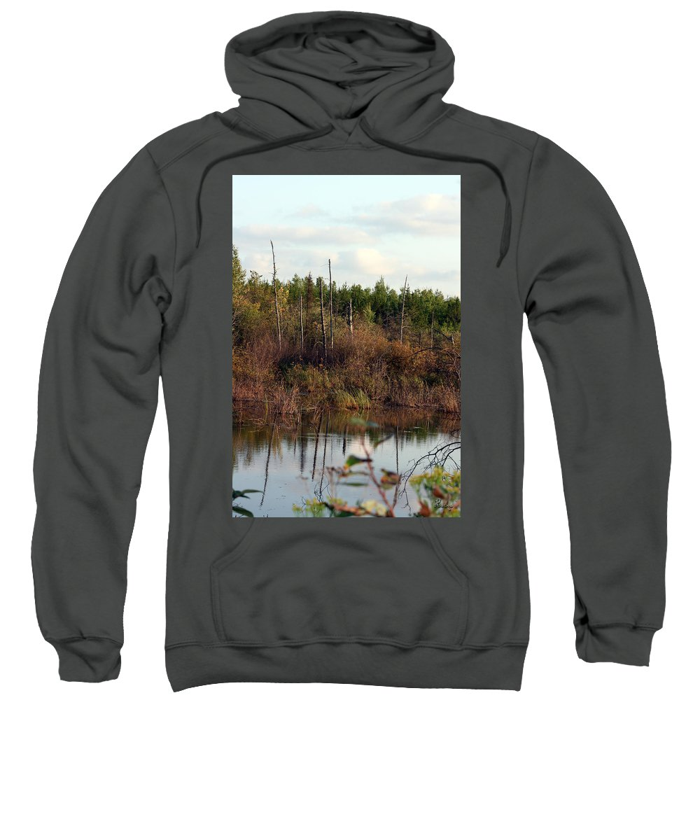 Marsh Lake Water Aquatic Wild Natural Mother Nature Pond Sweatshirt featuring the photograph Marsh by Andrea Lawrence