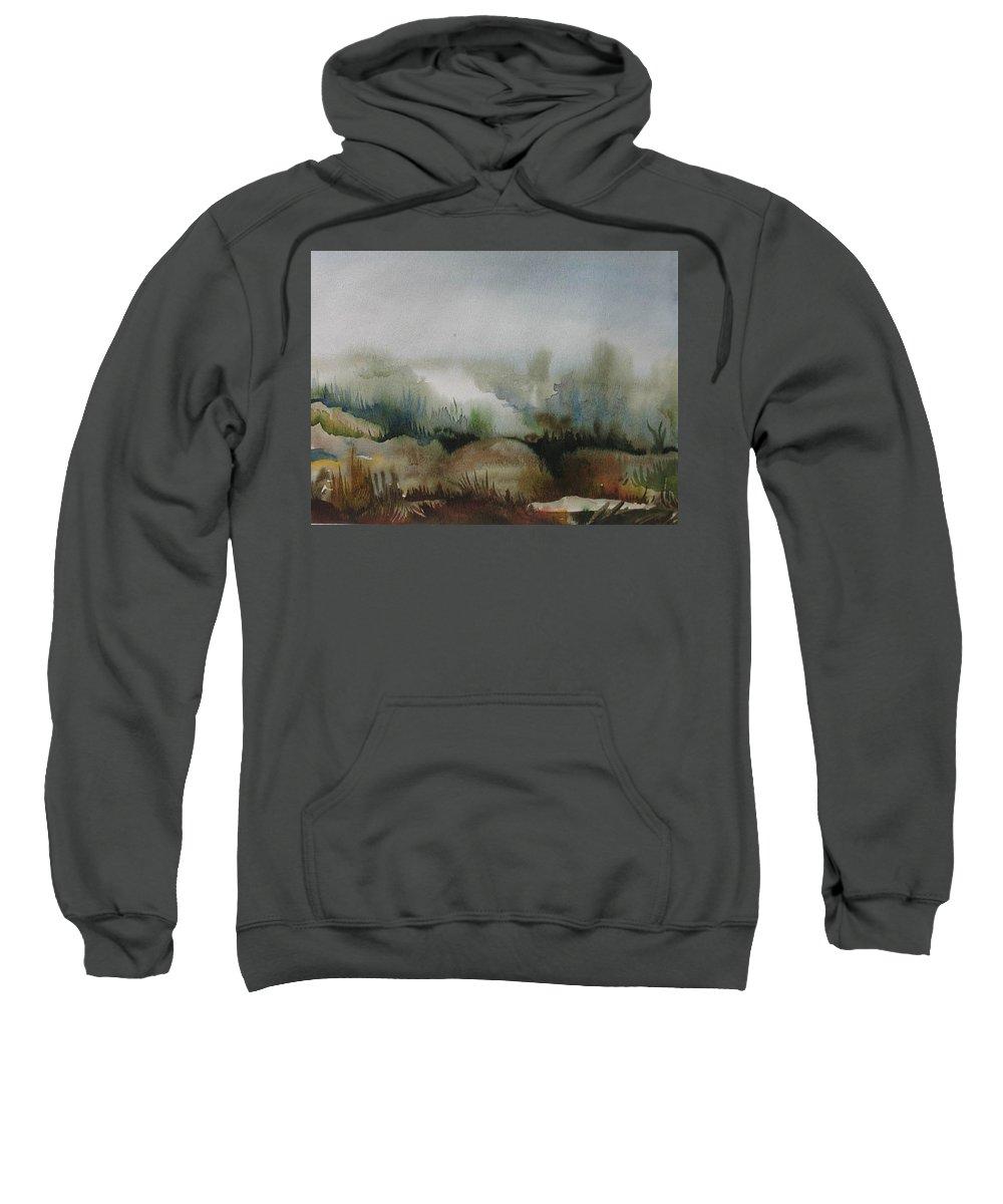Marsh Sweatshirt featuring the painting Marsh by Anna Duyunova