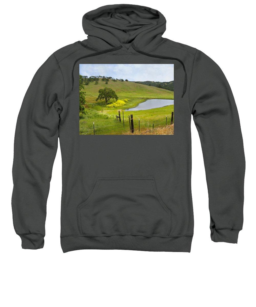 Landscape Sweatshirt featuring the photograph Marsh Creek Road by Karen W Meyer