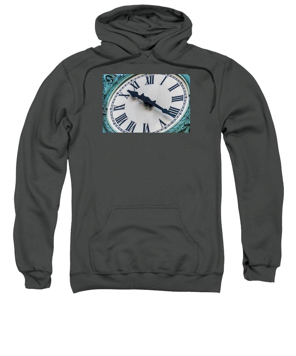 4c74eb676cdf7 Marshall Sweatshirt featuring the photograph Marshall Fields Clock Face  Chicago by Steve Gadomski