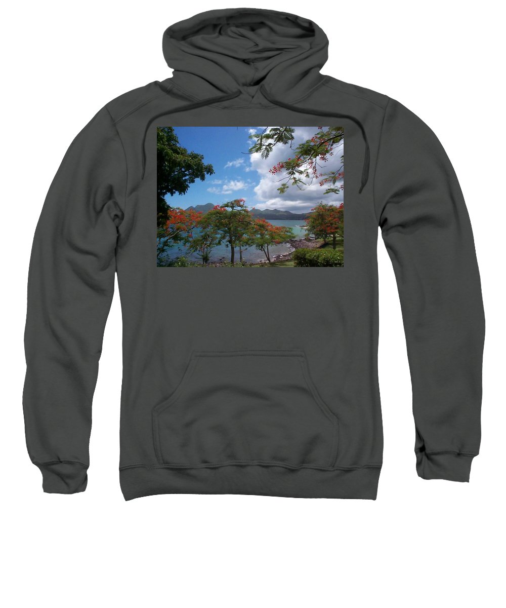 Donation Sweatshirt featuring the photograph Martinique by Mary-Lee Sanders