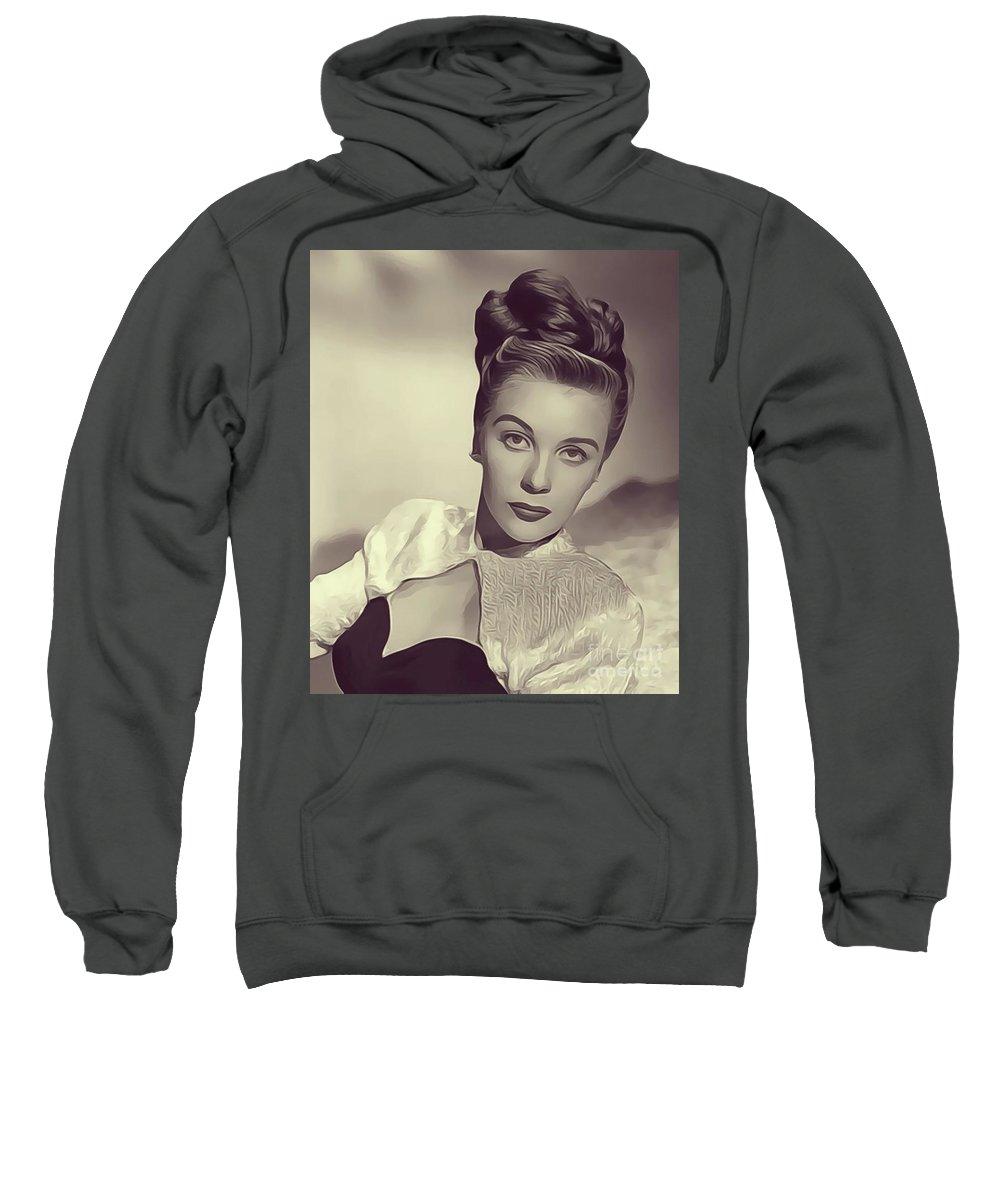 Mary Sweatshirt featuring the digital art Mary Stuart, Vintage Actress by John Springfield