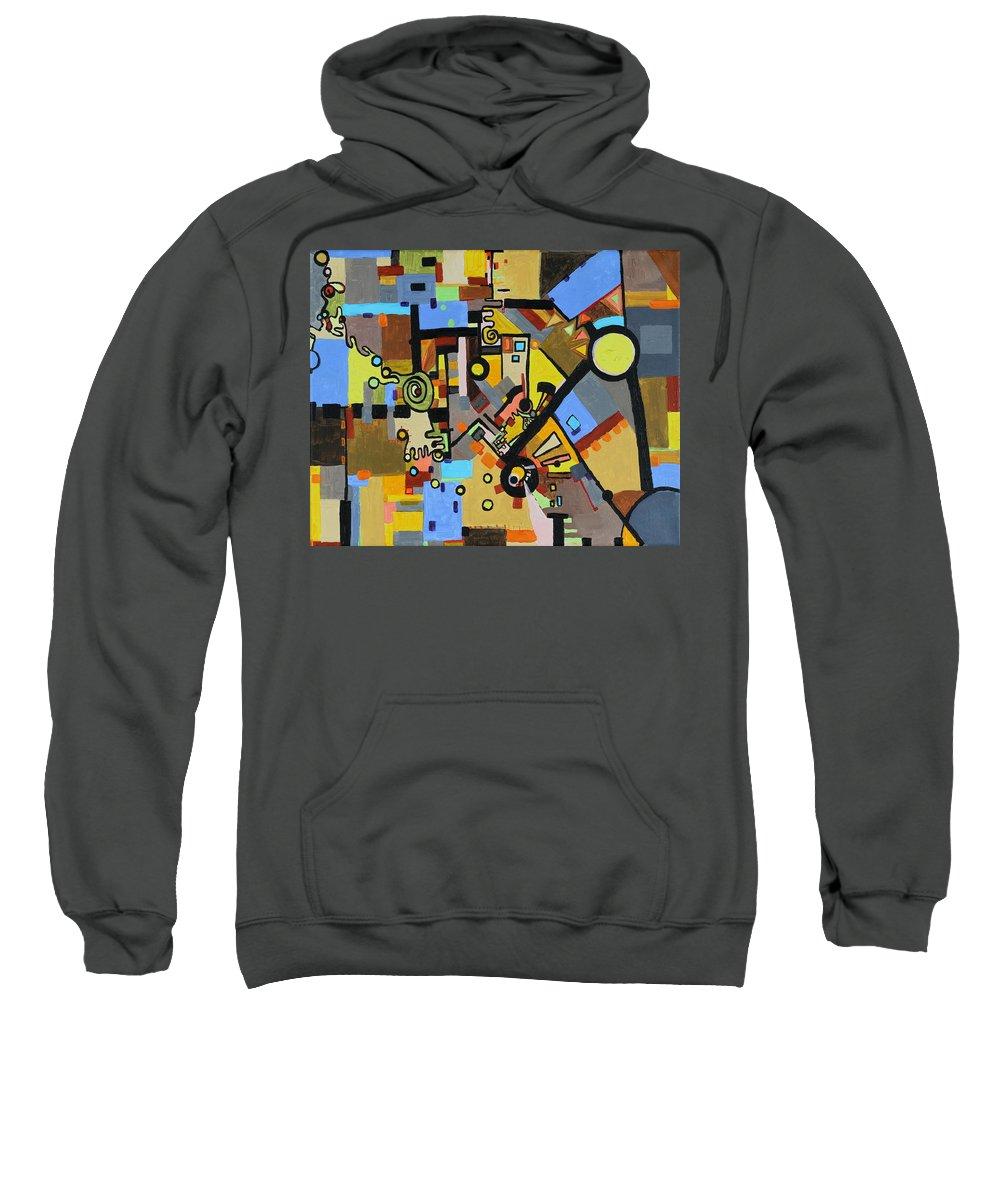 Juxtaposition Sweatshirt featuring the painting Masculine And Feminine by Regina Valluzzi
