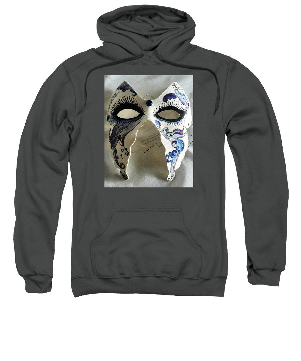 Mask Sweatshirt featuring the painting Mask by Sigita Smetonaite