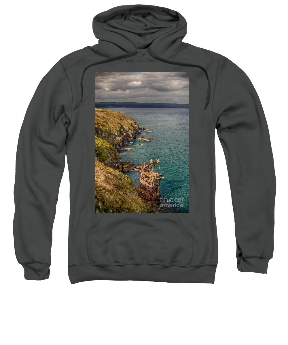 Ardmore Sweatshirt featuring the photograph Mason Crane Wreck 2 by Marc Daly
