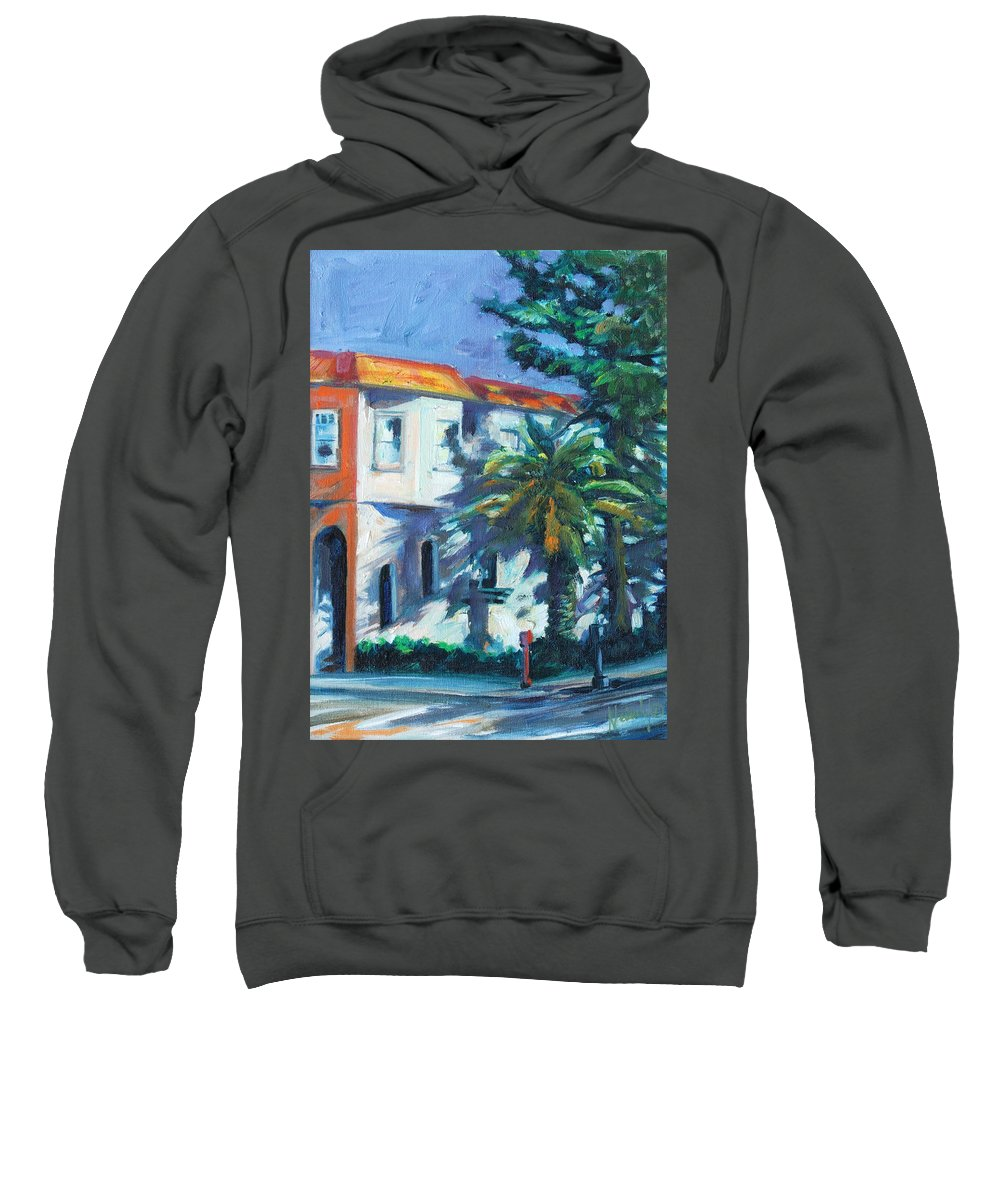 Cityscape Sweatshirt featuring the painting Masonic by Rick Nederlof