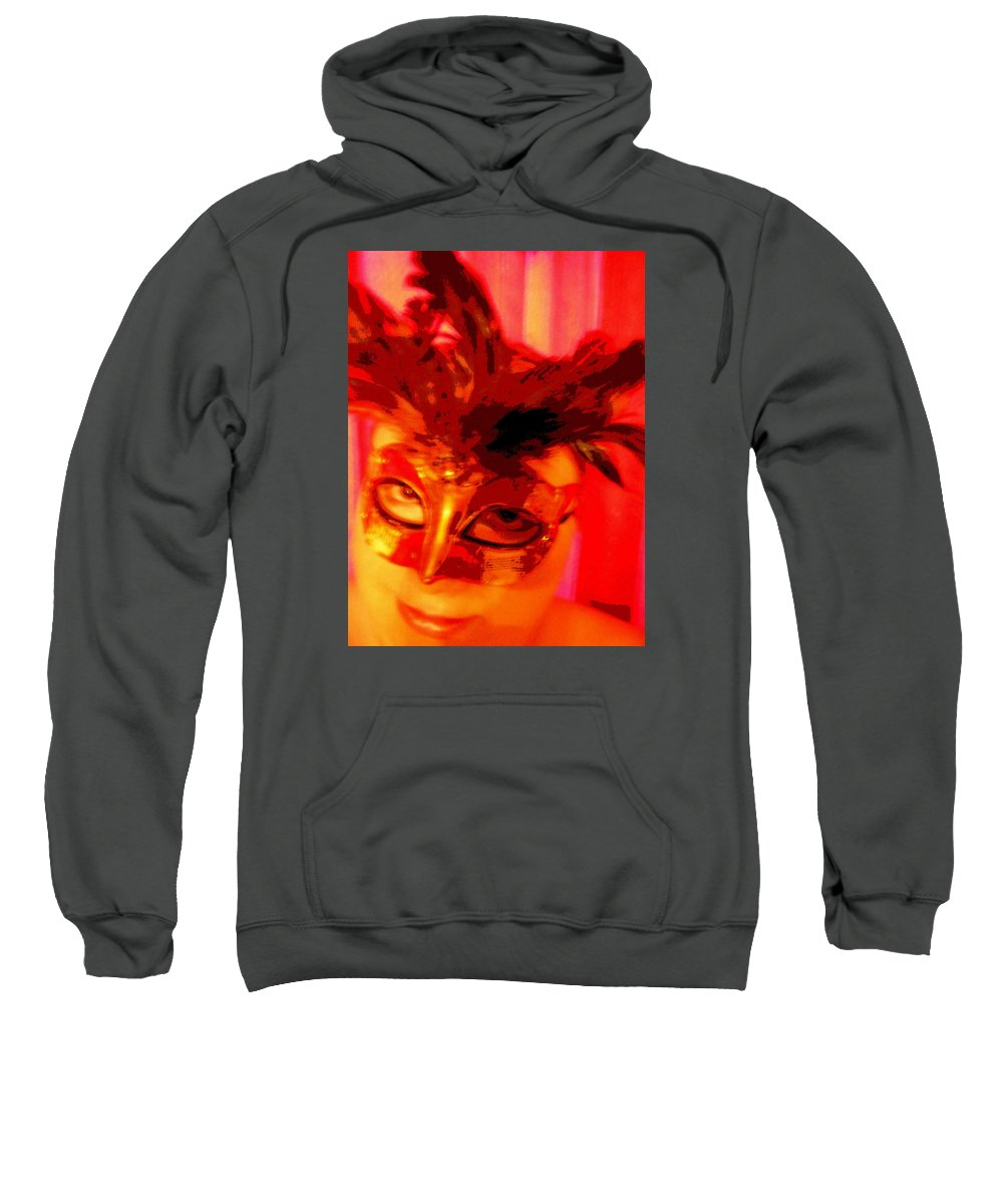 Masquerade Sweatshirt featuring the photograph Masquerade by April Patterson