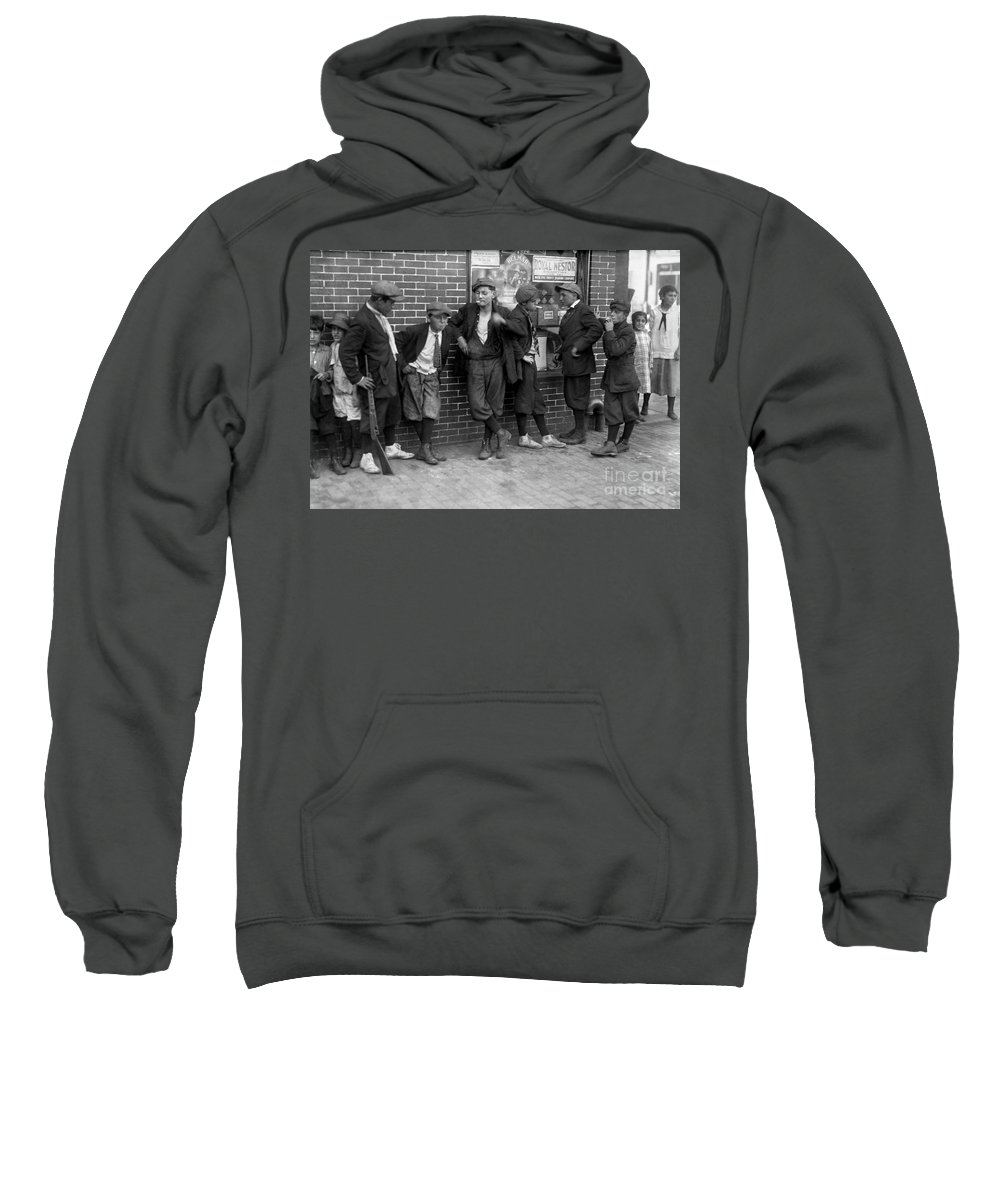 1916 Sweatshirt featuring the photograph Massachusetts: Gang, C1916 by Granger