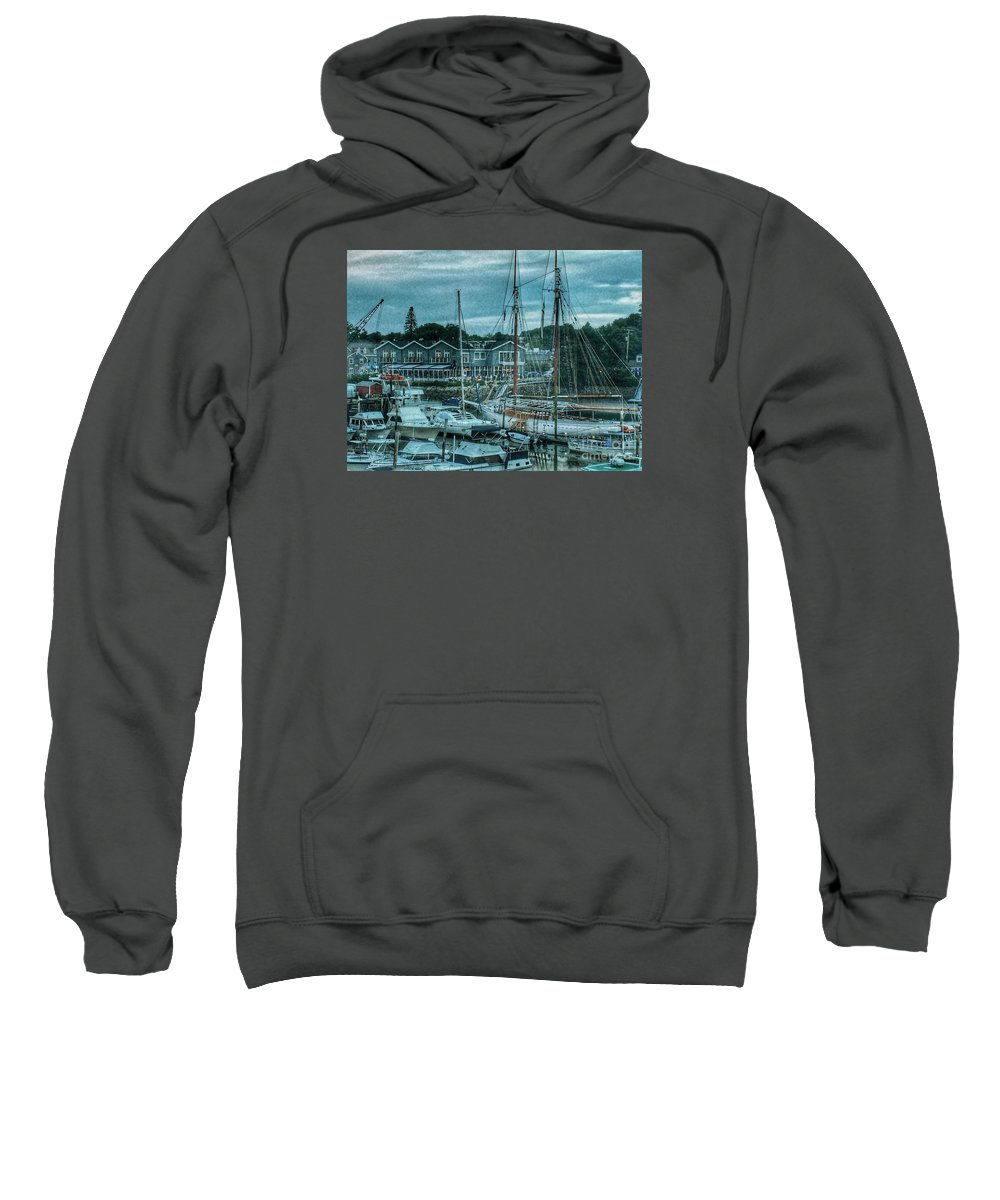 Boats Sweatshirt featuring the photograph Masts Hysteria by MaryLou England