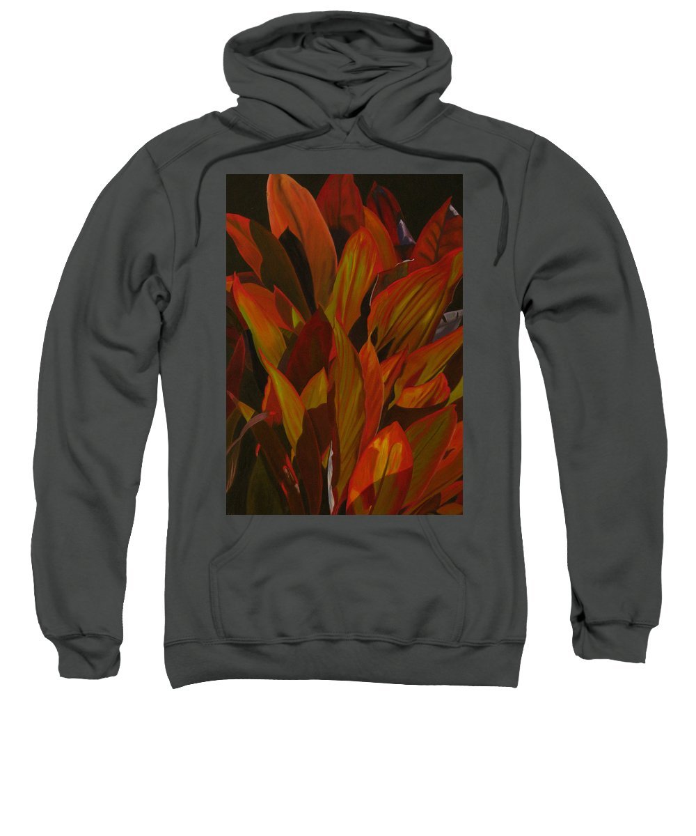 Plant Sweatshirt featuring the painting May Festival by Thu Nguyen