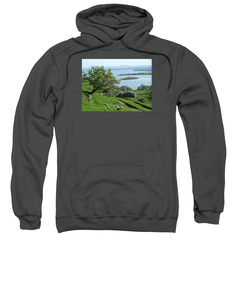 Ireland Sweatshirt featuring the photograph May The Road Rise To Meet You by Teresa Mucha