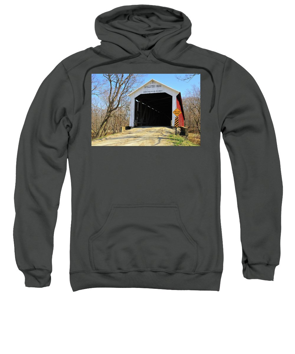 Mcallisters Bridge Sweatshirt featuring the photograph Mcallister's Bridge by David Arment