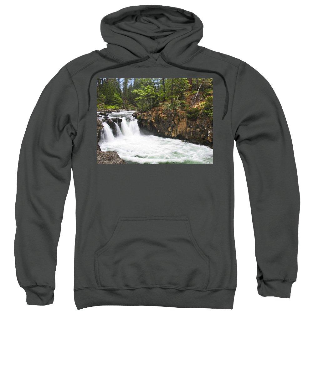 Landscape Sweatshirt featuring the photograph Mccloud Lowerfalls by Karen W Meyer