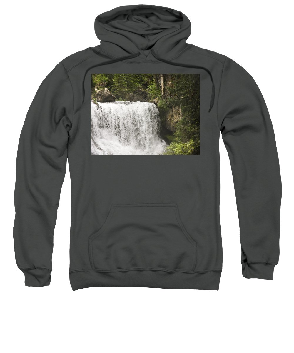 Waterfalls Sweatshirt featuring the photograph Mccloud Upper Falls by Karen W Meyer