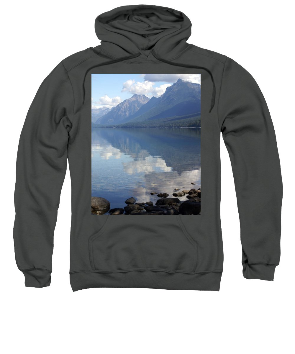 Lake Mcdonald Sweatshirt featuring the photograph Mcdonald Reflection by Marty Koch