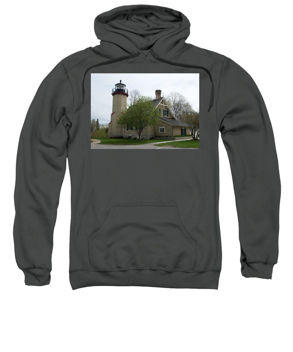 Mcgulpin Lighthouse Sweatshirt featuring the photograph Mcgulpin by Linda Kerkau