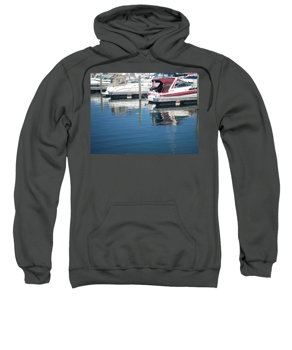 Mckinley Marina Sweatshirt featuring the photograph Mckinley Marina 1 by Anita Burgermeister