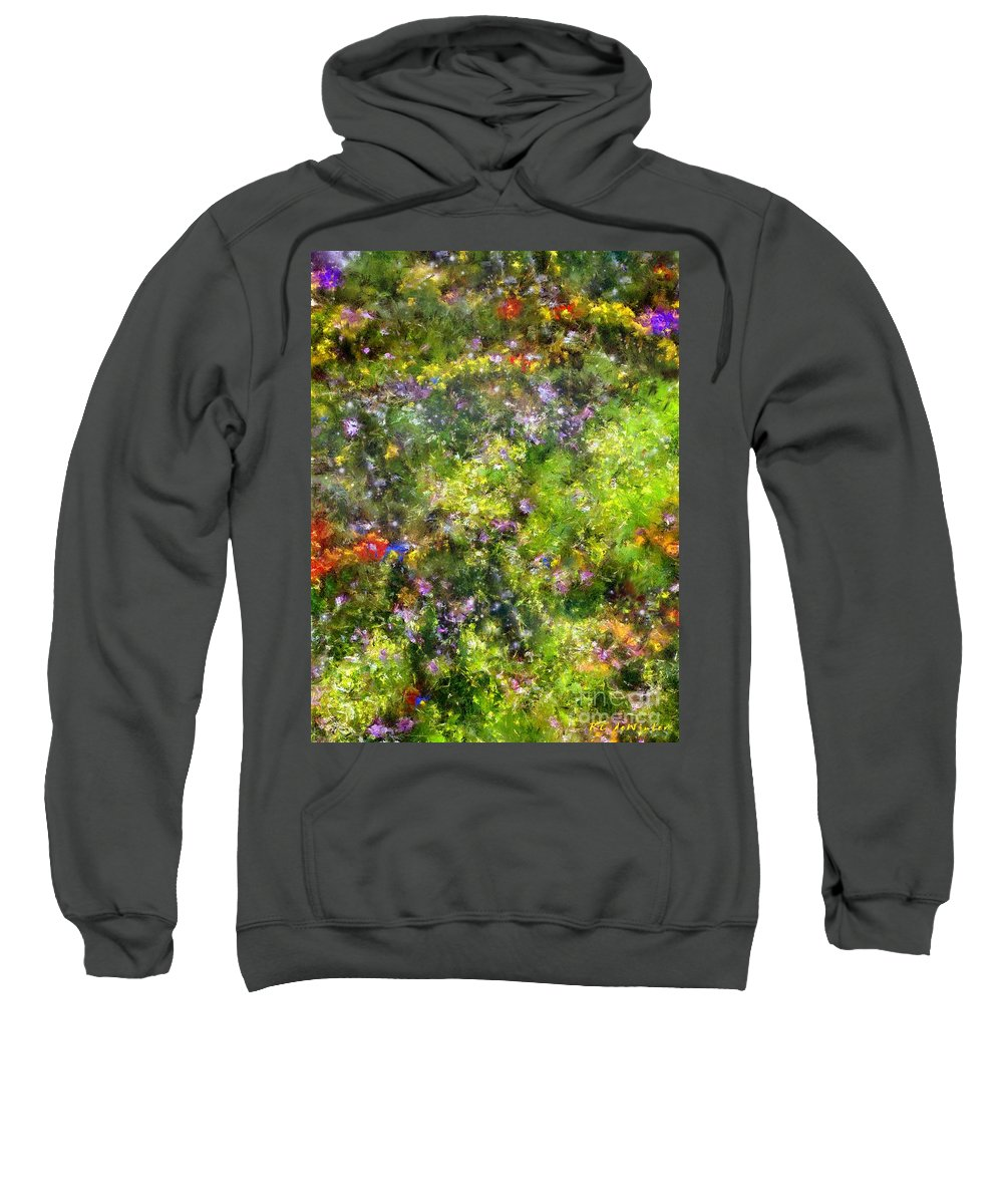 Meadow Sweatshirt featuring the painting Meadowstars In Manx by RC DeWinter