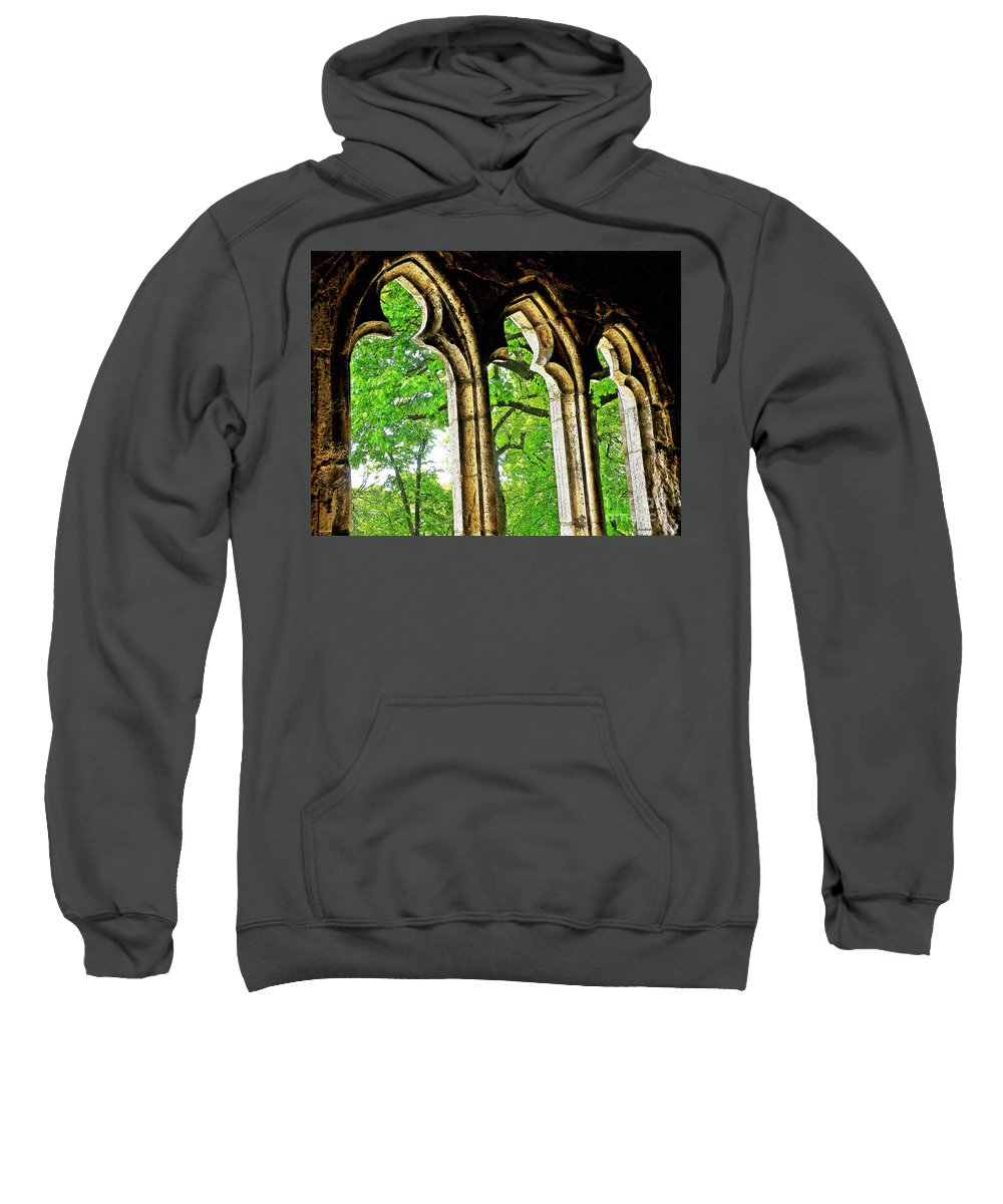 Tree Sweatshirt featuring the photograph Medieval Triptych by Sarah Loft