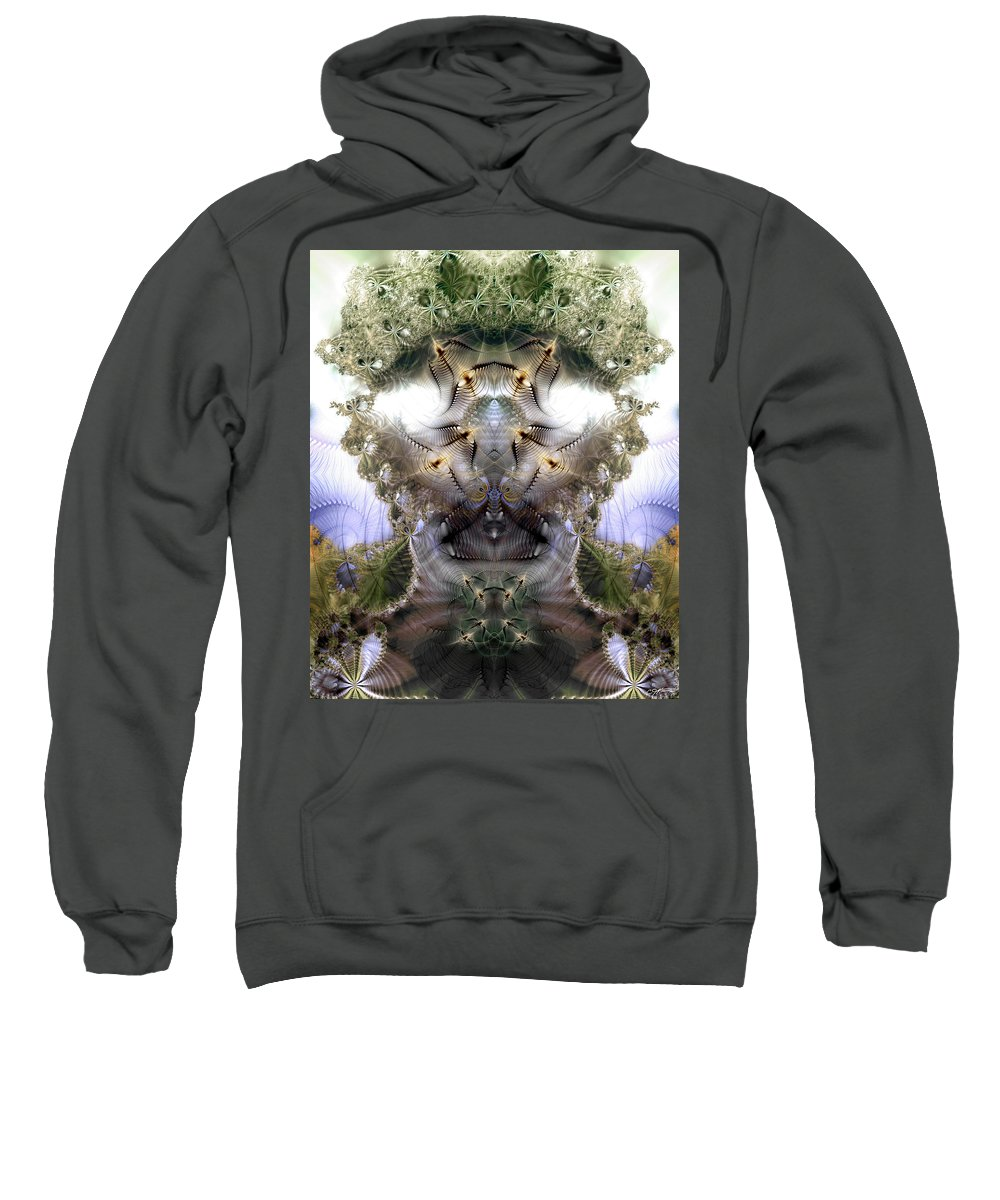 Abstract Sweatshirt featuring the digital art Meditative Symmetry 5 by Casey Kotas