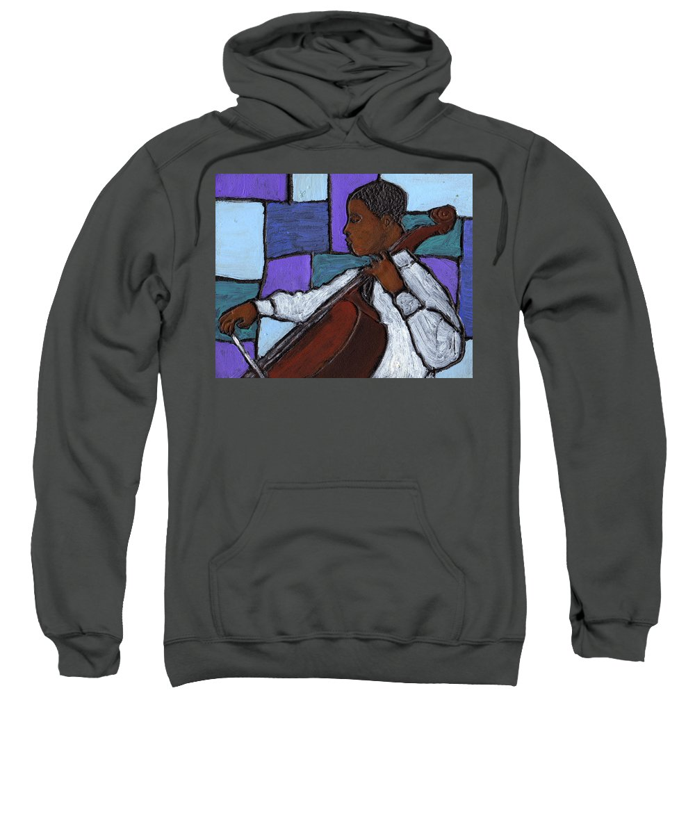 Blues Sweatshirt featuring the painting Mellow Blues by Wayne Potrafka