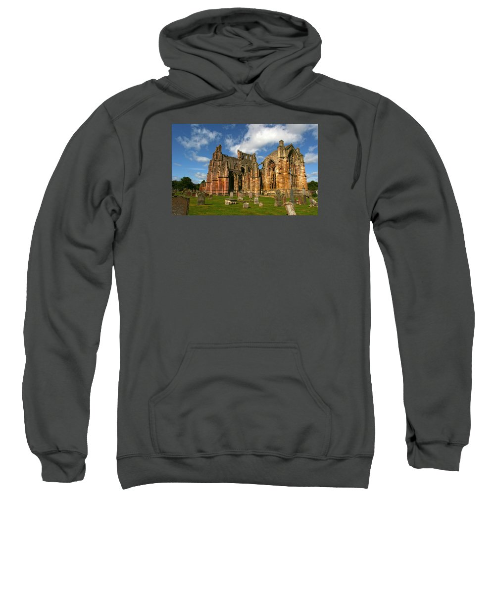 Melrose Sweatshirt featuring the photograph Melrose Abbey by Robert Och