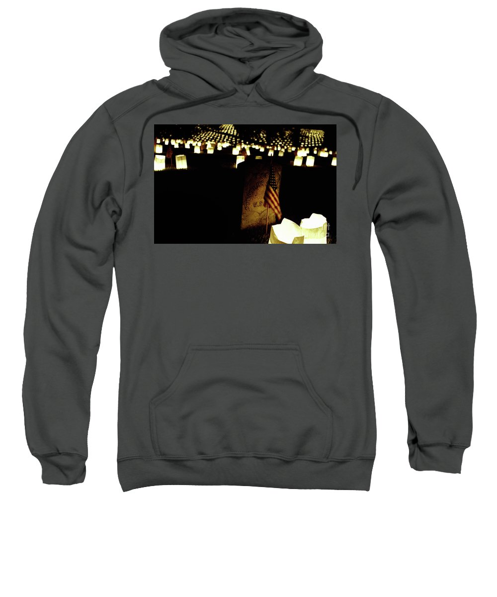 Fine Art Sweatshirt featuring the photograph Memorial Day Luminary by William Helton