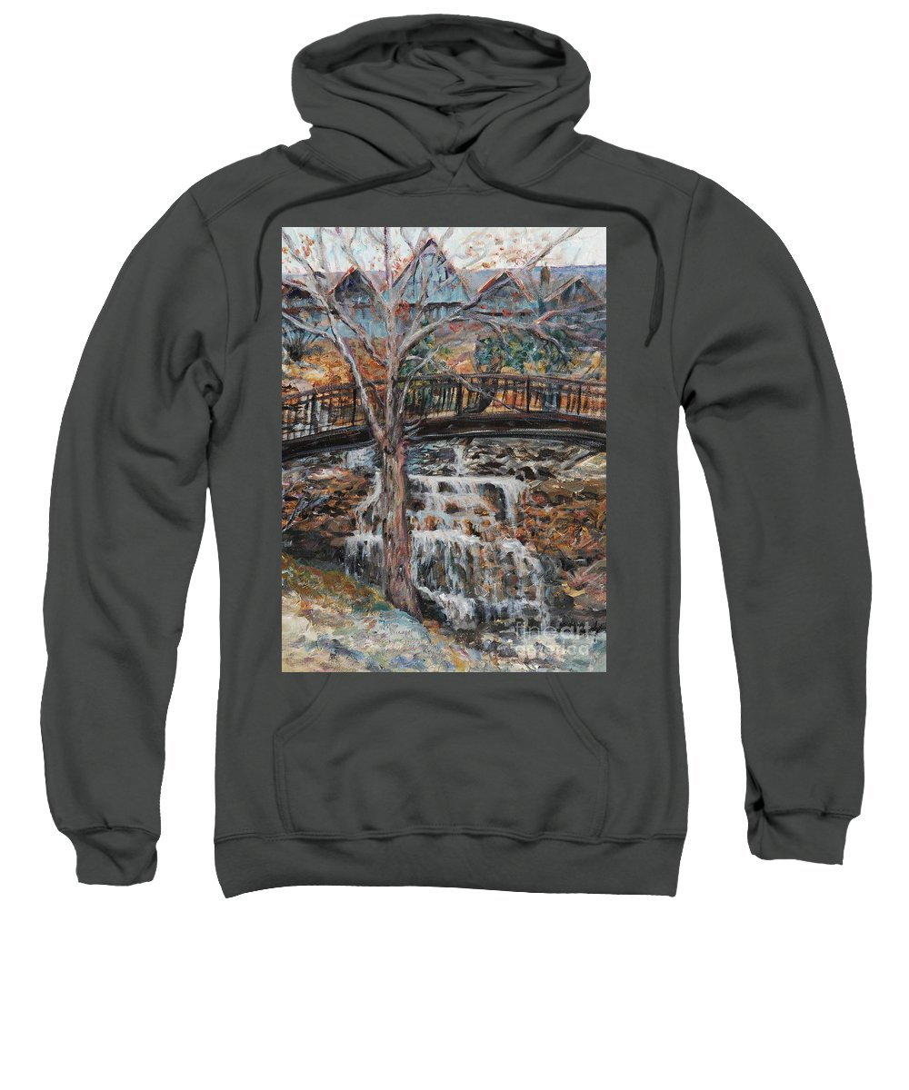 Waterfalls Sweatshirt featuring the painting Memories by Nadine Rippelmeyer
